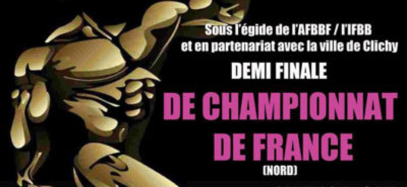 Photographe officiel de demi final IFBB France Nord